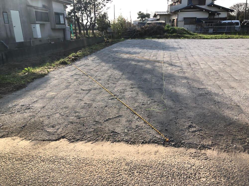 駐車場砕石敷工事 NO.1409の施工写真3