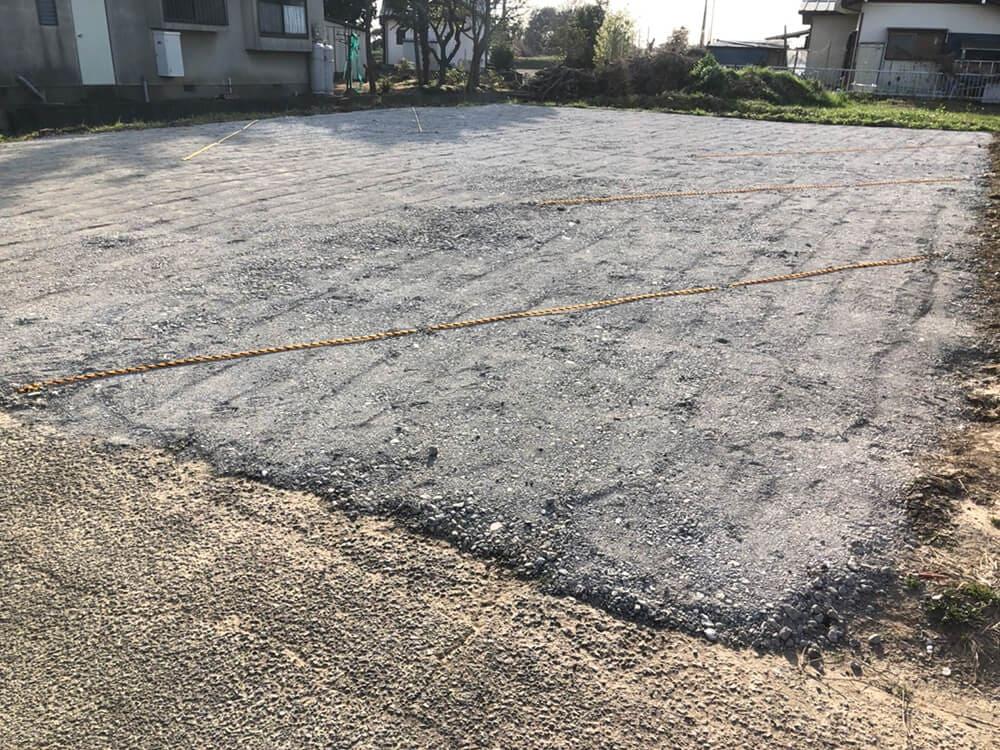 駐車場砕石敷工事 NO.1409の施工写真1