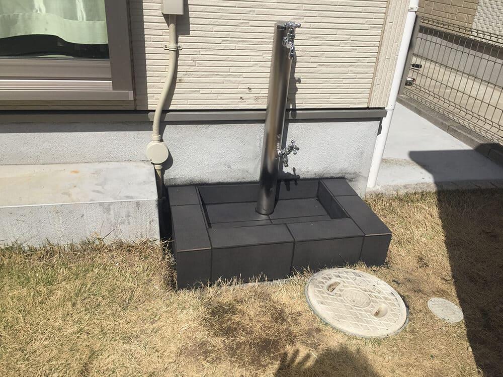物置・立水栓工事 NO.1402の施工写真2