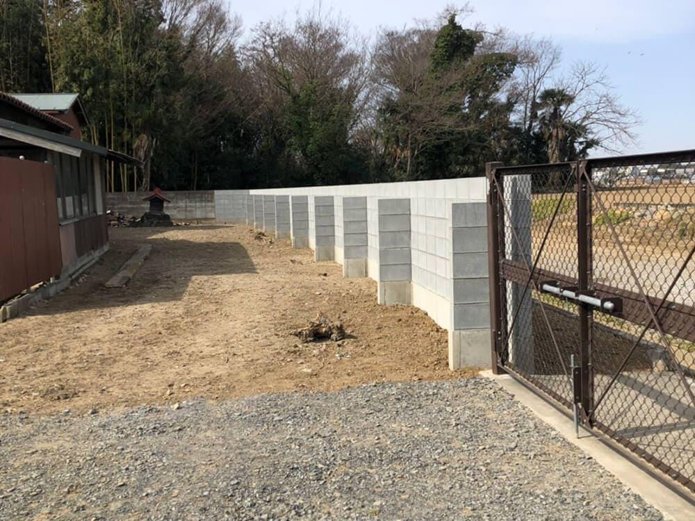 ブロック塀工事 NO.1395の施工写真3