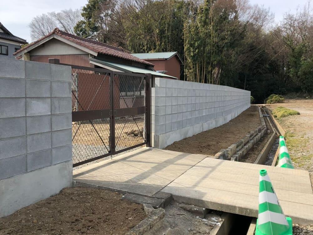 ブロック塀工事 NO.1395の施工写真1