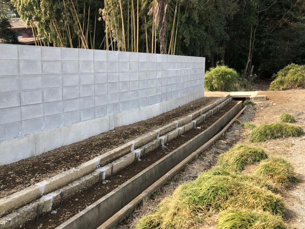 ブロック塀工事 NO.1395の施工写真2