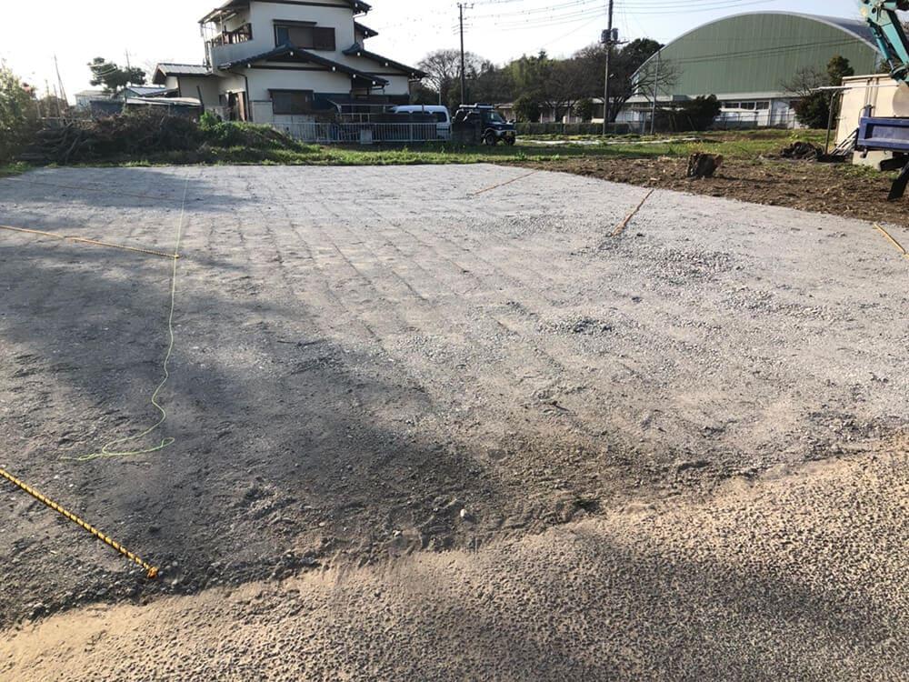 駐車場砕石敷工事 NO.1409の施工写真メイン