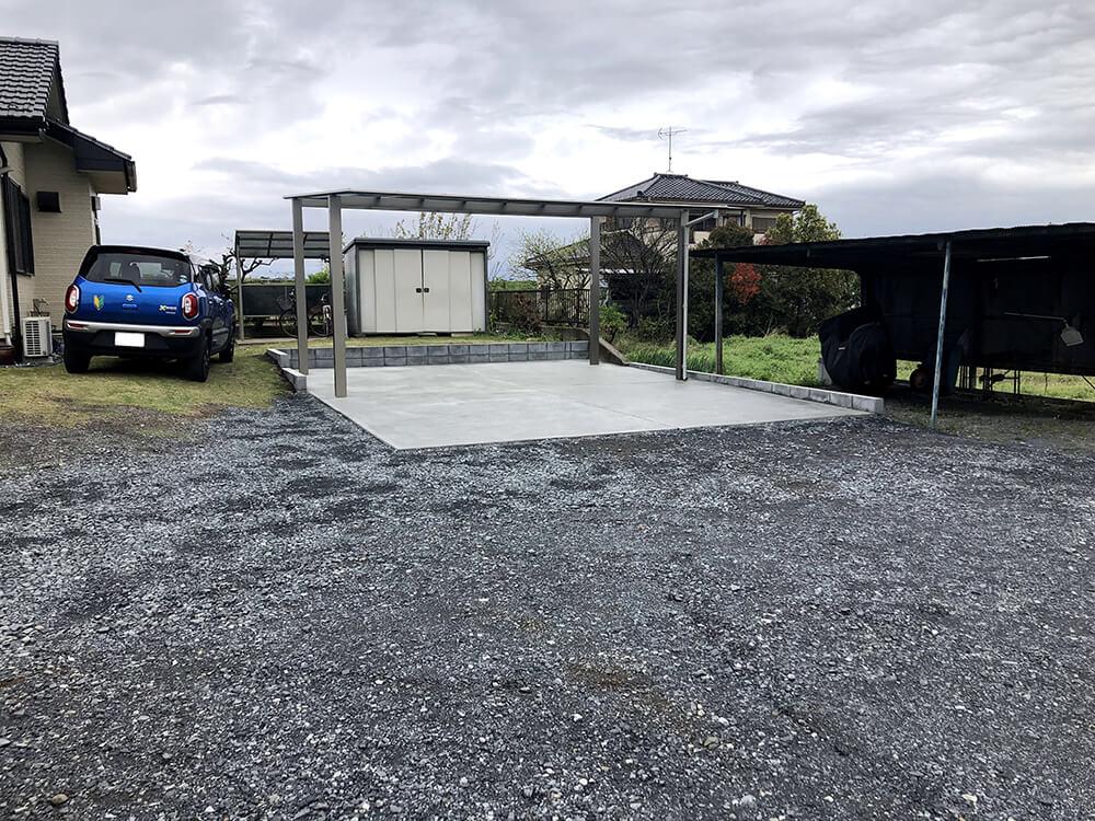 駐車場カーポート工事 NO.1430の施工写真3