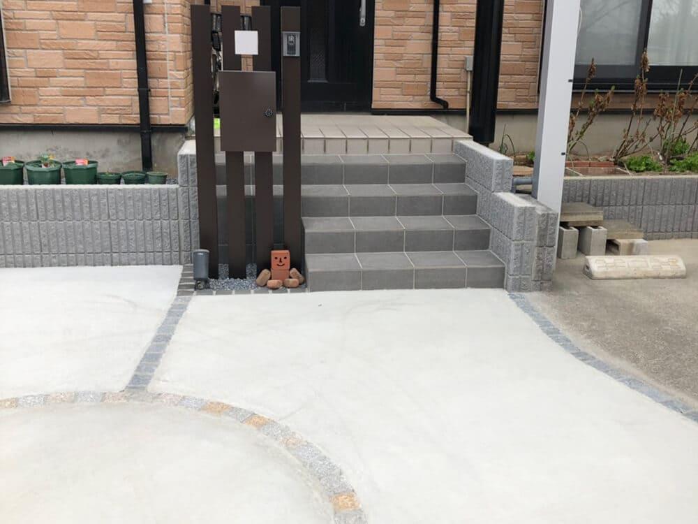 車庫3台分土間コンクリート打工事 NO.1420の施工写真3