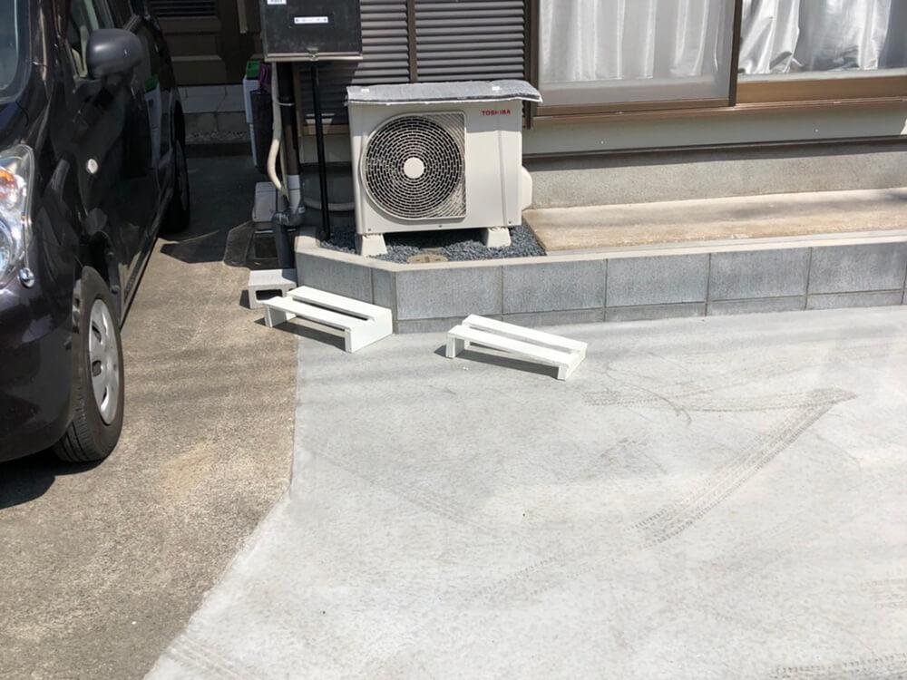 車庫拡幅工事 NO.1424の施工写真3