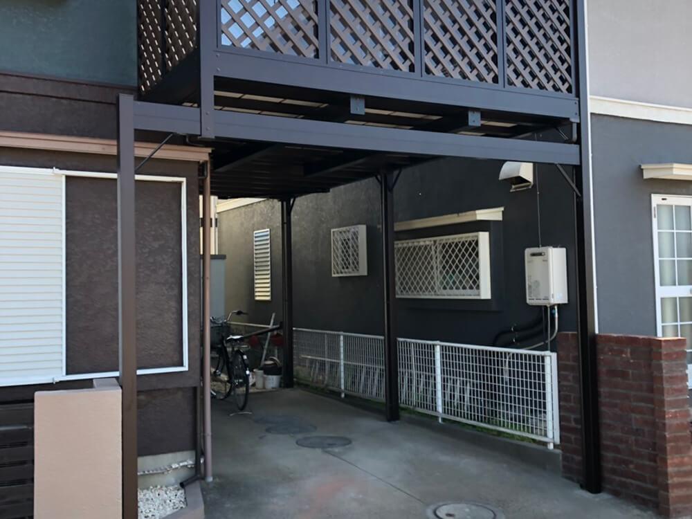 2階木造テラス解体・取替工事 NO.1440の施工写真2