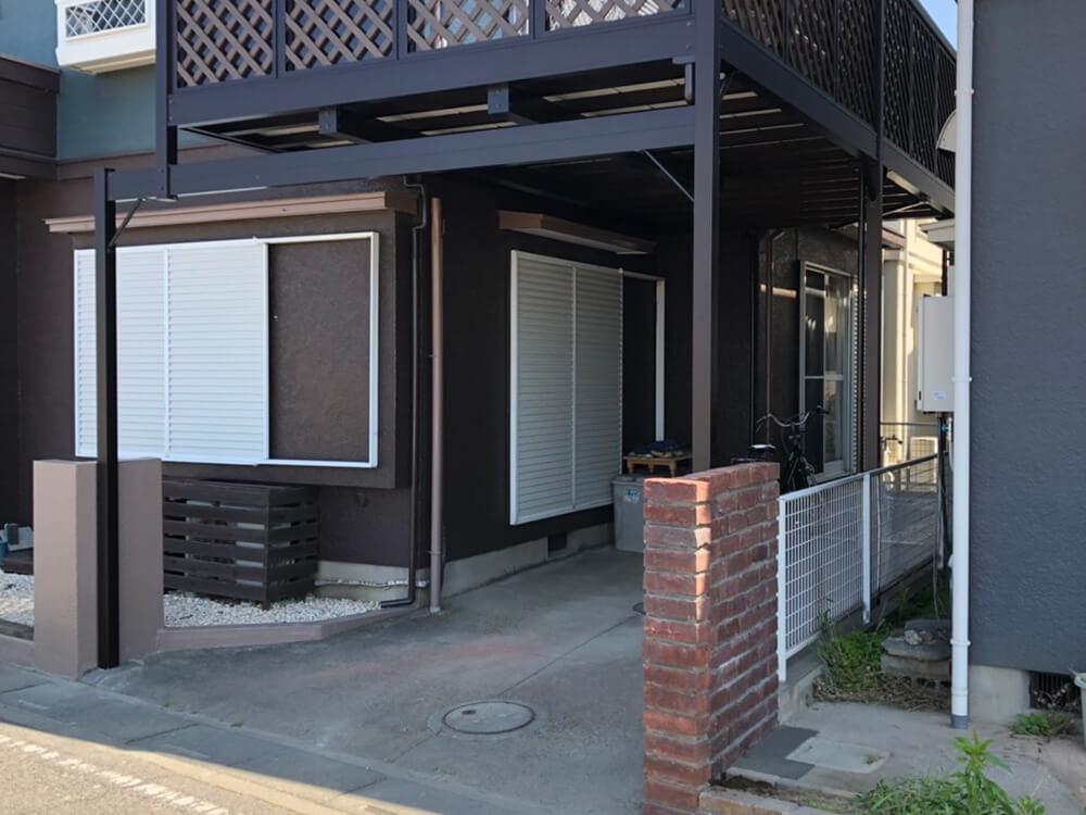 2階木造テラス解体・取替工事 NO.1440の施工写真1
