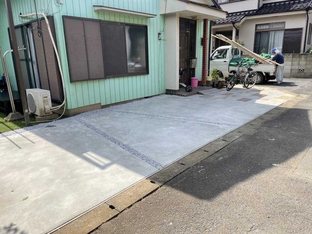 駐車場工事と人工芝施工 NO.1483の施工写真2