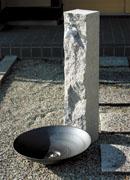 おしゃれな立水栓_No.9_ニッコーエクステリア_立水栓ユニット_芦野石タイプ