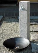 おしゃれな立水栓_No.9_ニッコーエクステリア_立水栓ユニット_芦野石タイプ2
